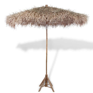"Bamboo parasol garden umbrella with parasol roof parasol shaded, (natural w/inclined) 82.7"" - QSR-Unlimited"
