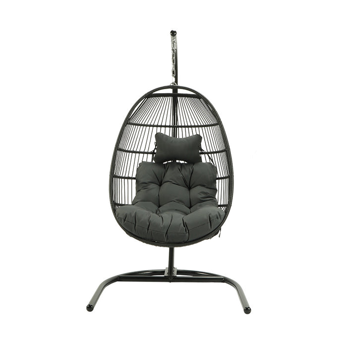 Choose high-quality PE rattan stainless steel swing chair - QSR-Unlimited
