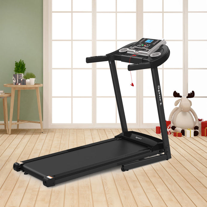 Folding Electric Treadmill for Home Workout w/ Smart armrest and watch head and LCD monitor - QSR-Unlimited
