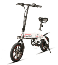 "Load image into Gallery viewer, Samebike 14"" Aluminum Alloy Folding Electric Bike 36V250W e-Bike Lithium Battery - QSR-Unlimited"
