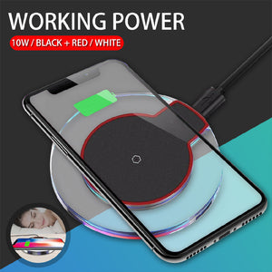 Qi Fast Wireless Charger Charging Pad For iPhone X 8 Plus & Galaxy - QSR-Unlimited