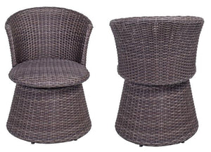 Wicker Swivel Stool Chair (2 pack) - QSR-Unlimited