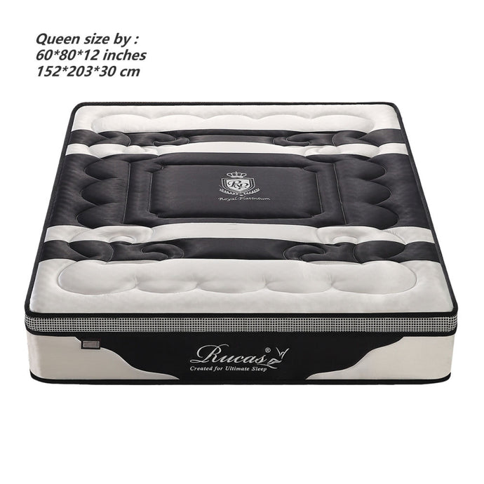 Rucas 12 Inch Memory Foam Mattress Queen & Pocket Spring Mattress - QSR-Unlimited