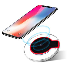 Cargar imagen en el visor de la galería, Qi Fast Wireless Charger Charging Pad For iPhone X 8 Plus & Galaxy - QSR-Unlimited
