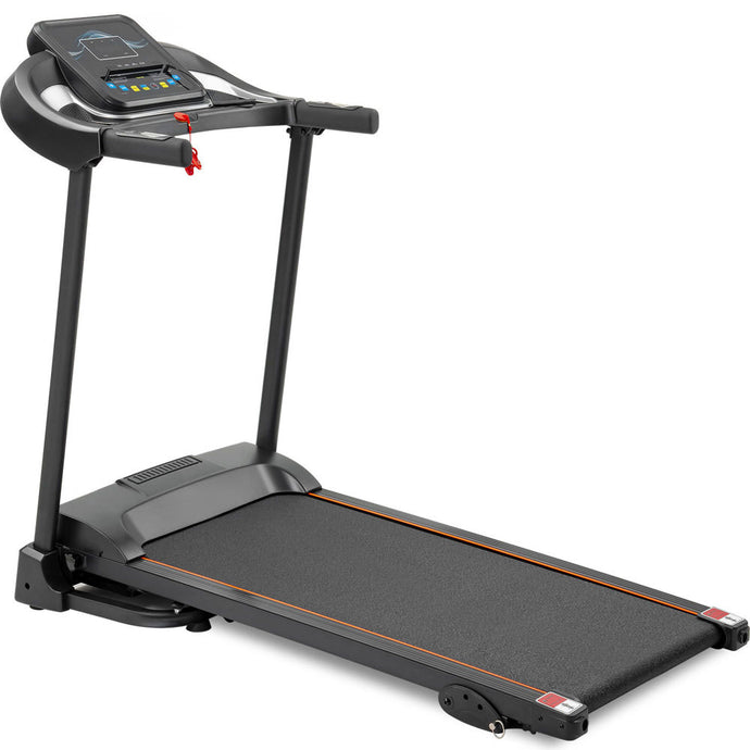 Compact Easy Folding Treadmill Motorized Running Jogging Machine w/ Audio Speakers & Incline Adjuster RT - QSR-Unlimited