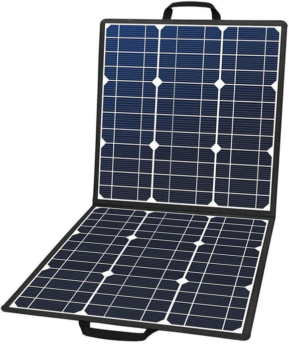 50W 18V Portable Solar Panel, Flashfish Foldable Solar Charger with 5V USB 18V DC Output - QSR-Unlimited