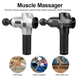 Massage Gun 30 Speed LCD  Deep Tissue Percussion Massager - QSR-Unlimited