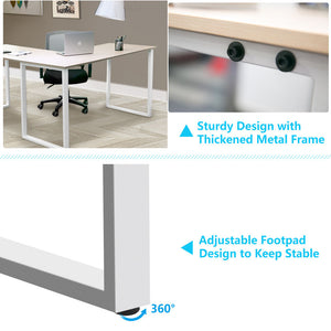 L-Shaped Large Corner PC Laptop Study Table Workstation - QSR-Unlimited