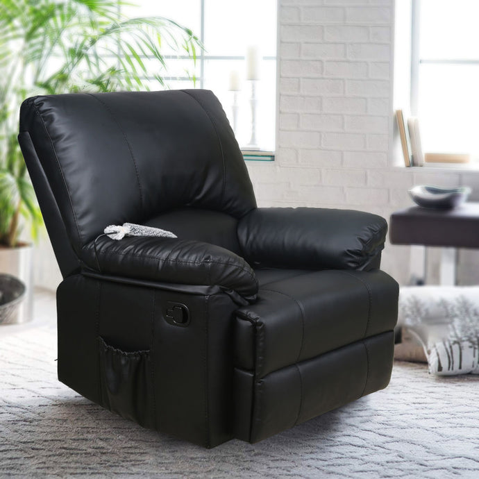 Recliner Chair Massage Rocker with Heated Modern PU Leather - QSR-Unlimited