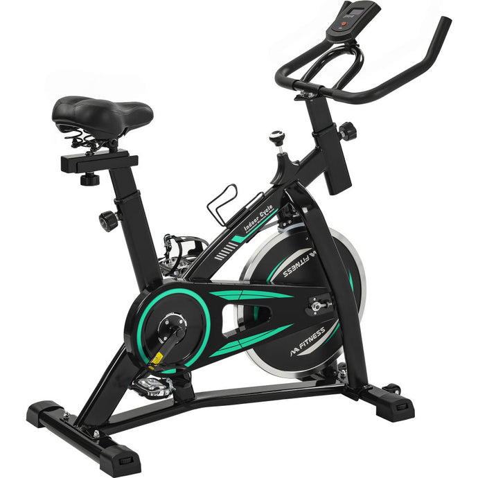 Stationary Indoor Cycling Bike for Home Cardio Workout, Belt Drive  w LCD Monitor RT - QSR-Unlimited