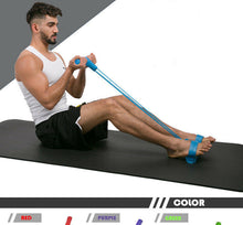 Load image into Gallery viewer, Pedal resistance band ultra-light fitness band 4-tube yoga band - QSR-Unlimited