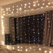 Load image into Gallery viewer, 300-LED Warm White Light Romantic Christmas Outdoor  Curtain String Light - QSR-Unlimited
