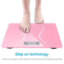 Load image into Gallery viewer, Digital Electronic LCD Personal Glass Body Weight Weighing Scale - QSR-Unlimited