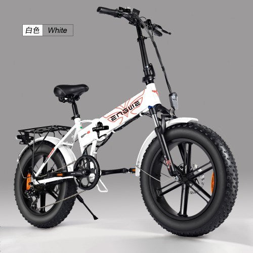 ENGWE 500W Adult 20-inch fat tire electric bike mountain beach snow bike - QSR-Unlimited