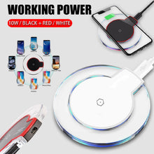 Load image into Gallery viewer, Qi Fast Wireless Charger Charging Pad For iPhone X 8 Plus & Galaxy - QSR-Unlimited