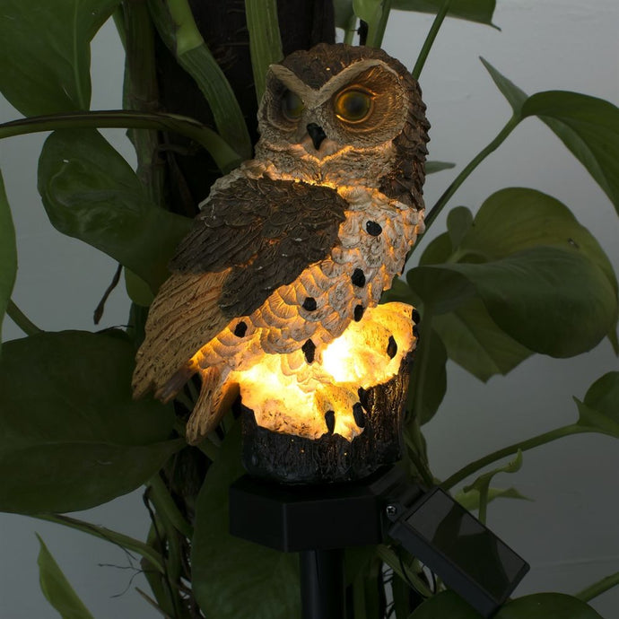 Outdoor Solar Power Garden Lights Owl Decor Path  LED  Light - QSR-Unlimited