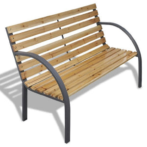 44.1-inch terrace park garden bench, weather-resistant porch chair - QSR-Unlimited