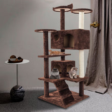 "Load image into Gallery viewer, 52"" Solid Cute Sisal Rope Plush Cat Climb Tree Cat Tower - QSR-Unlimited"
