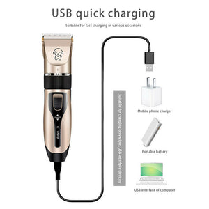 Dog Shaver Clippers Low Noise Rechargeable Cordless Electric - QSR-Unlimited