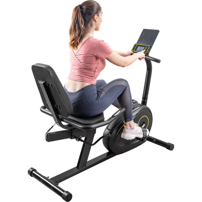 Recumbent Exercise Bike with 8-Level Resistance, Bluetooth Monitor, Easy Adjustable Seat, 380lb Weight Capacity RT - QSR-Unlimited