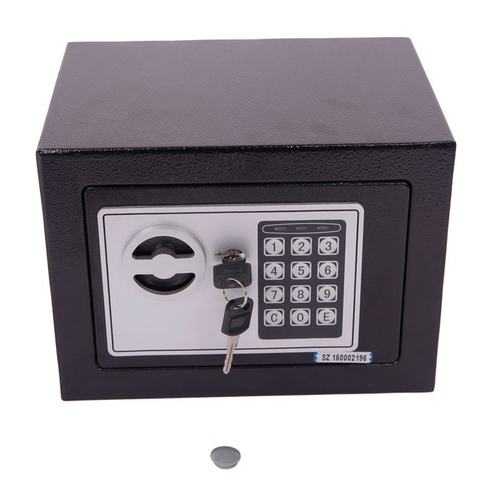 Electronic Safety Box Security Home Office Digital Lock Jewelry Black Safe - QSR-Unlimited