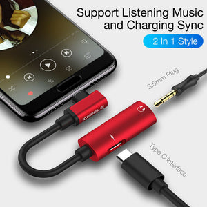 USB C Type-C to 3.5mm Jack AUX Earphone Audio Charger Converter - QSR-Unlimited