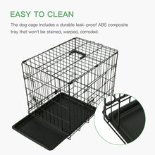 "Load image into Gallery viewer, 48"" Pet Kennel Cat Dog Folding Crate Animal Playpen Wire Cage - QSR-Unlimited"
