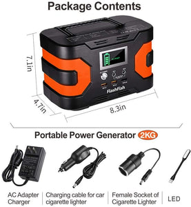 200W Peak Power Station, Flashfish CPAP Battery 166Wh 45000mAh Backup Power Pack 110V 150W - QSR-Unlimited