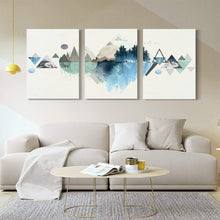 Load image into Gallery viewer, Canvas Prints Wall Art Abstract Mountain Landscape 3 Panels Painting - QSR-Unlimited