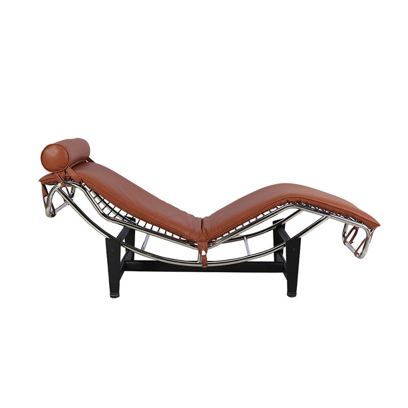 Adjustable stainless steel  leather chaise lounge chair - QSR-Unlimited