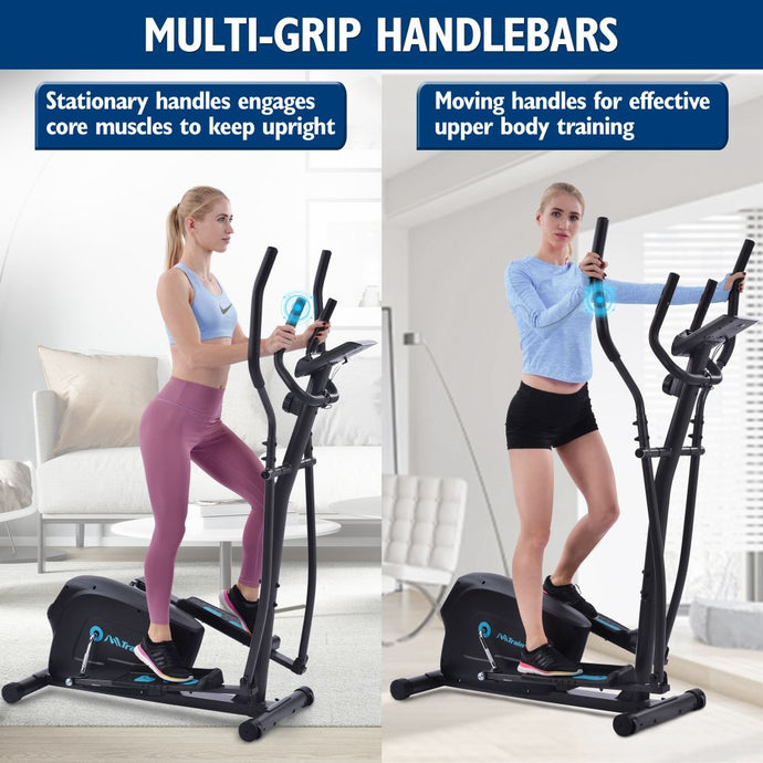 Elliptical Trainer Machine Upright Exercise Bike with 8-Level Magnetic Resistance for Home Gym - QSR-Unlimited