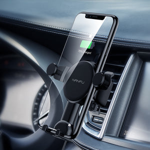 Wireless car Charger Mount, Air Vent Phone Holder, 7.5W & 10W Wireless - QSR-Unlimited