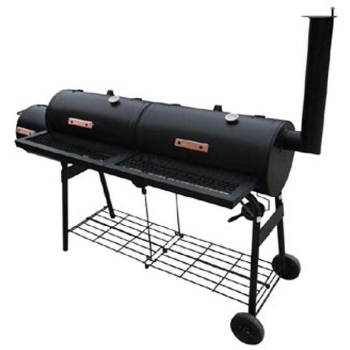 Charcoal and briquettes smoker barbecue grill XL black - QSR-Unlimited