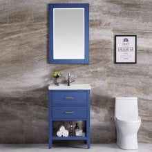 "Load image into Gallery viewer, F&R 24 Inch Bathroom Vanity and Sink Combo with Mirror & Storage, Gray/Blue/White Bathroom Vanity 24"" - QSR-Unlimited"