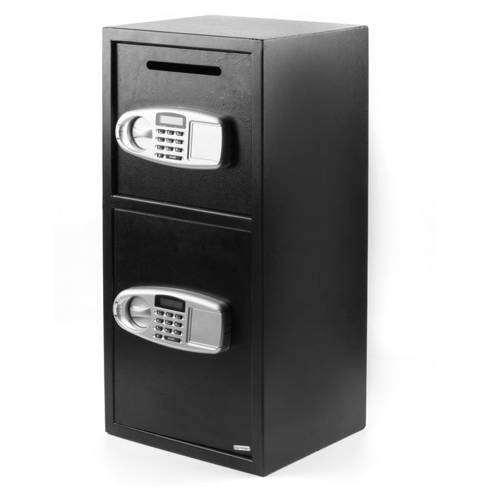 Double Door Iron Office Security Lock Digital Cash Gun Safe Depository Box - QSR-Unlimited