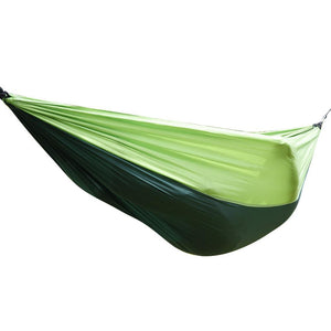Double Outdoor Hammock Swing Bed Portable Parachute Nylon Fabric Blackish Green - QSR-Unlimited