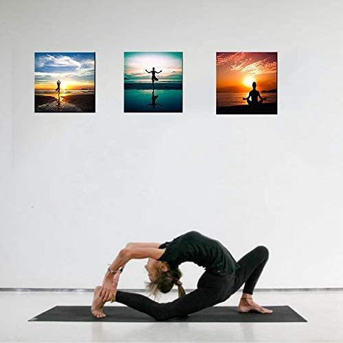 Modern Canvas Painting A People Do Yoga or Exercise for Workout Wall Art Sport Picture Printed Canvas Giclee Artwork - QSR-Unlimited