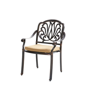 Elizabeth Cast Aluminum Garden Furniture 5 Pcs Set with Cushions - QSR-Unlimited