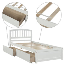 Load image into Gallery viewer, Twin Platform Bed with 2 Drawers