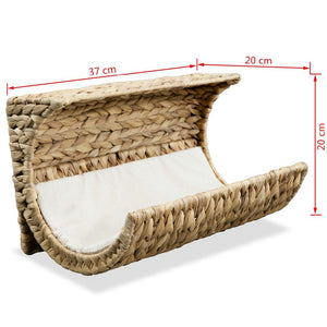 Cat Bed with Cushion Water Hyacinth - QSR-Unlimited