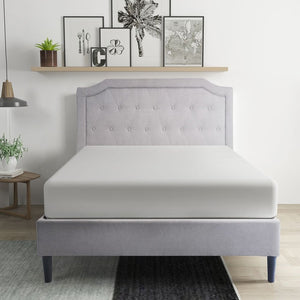Platform Queen Bed Frame with Slats and Headboard - QSR-Unlimited