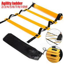 Load image into Gallery viewer, 6/12 Rung Agility Ladder for Speed Soccer Football Fitness Feet Training w/Bag - QSR-Unlimited