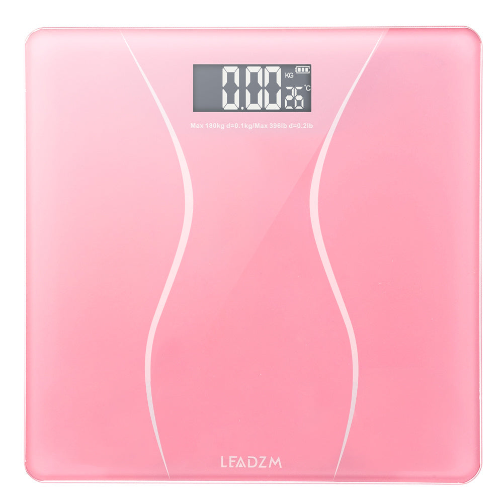 Digital Electronic LCD Personal Glass Body Weight Weighing Scale - QSR-Unlimited