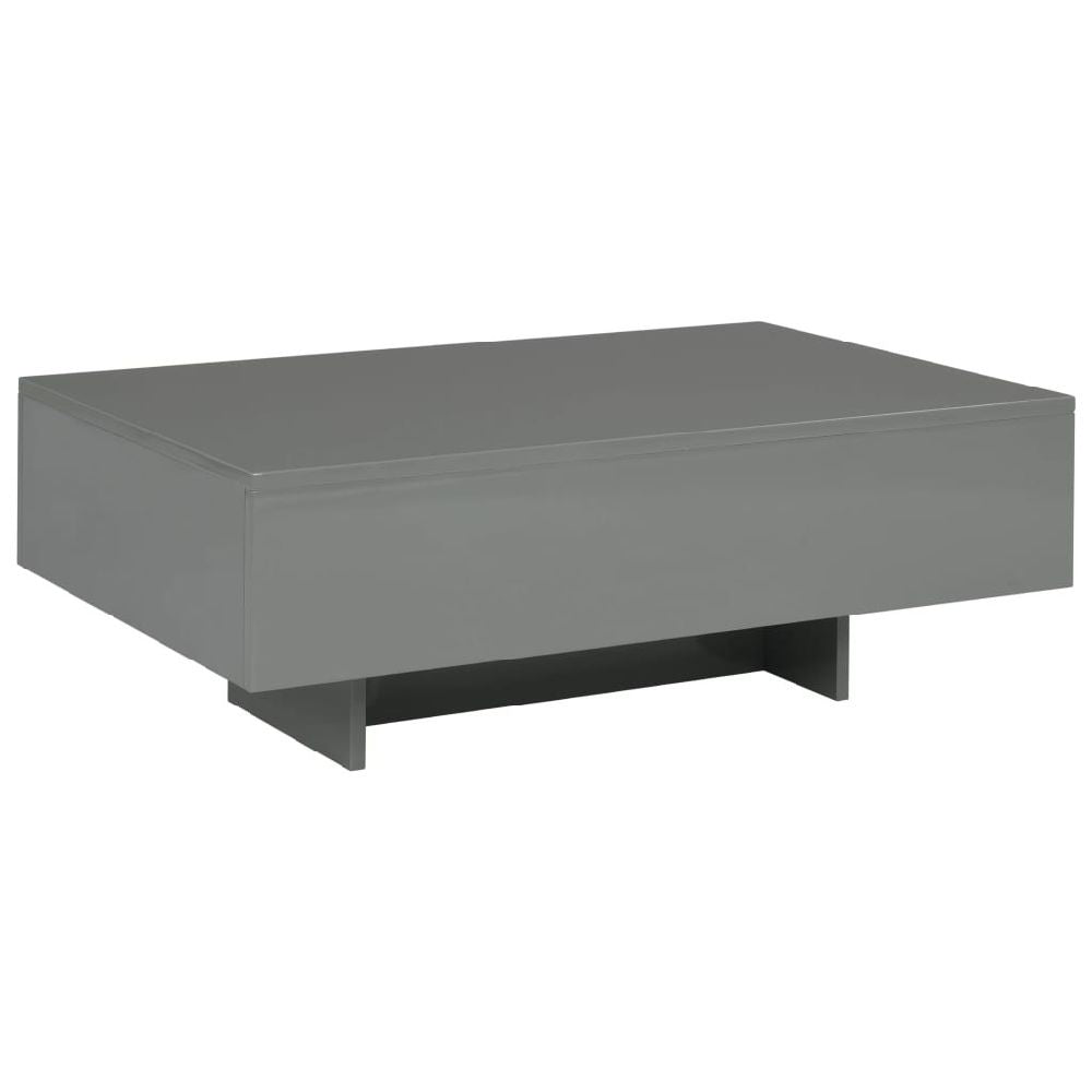 Classic Coffee Table Dining Table High-Gloss Gray 33.5