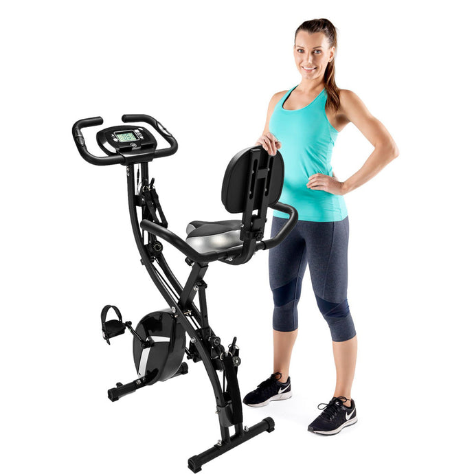 3 in 1 Portable Folding Exercise Bike Upright Fitness Bicycle for Indoor Fitness - QSR-Unlimited