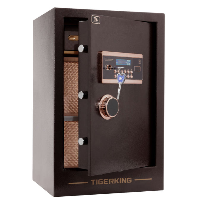 TIGERKING Burglary Digital Security Safe Double Safety Key Lock and Password - QSR-Unlimited