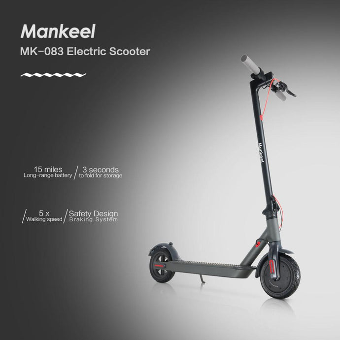 Mankeel MK-083 Electric Scooter 7.8Ah 25KM Range 350W Power Sport Foldable - QSR-Unlimited