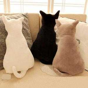 Cute Cat Soft Plush Back Shadow Toy Sofa Pillow Seat Cushion Birthday Gift - QSR-Unlimited