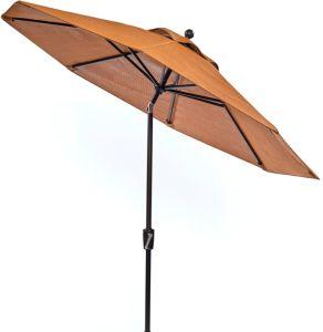 Sunbrella fabric 9 Ft UV Protection Sunbathing Dedicated Umbrellas Without Sun Damage - QSR-Unlimited