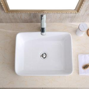 "CHANGIE 6030W Top Mount Vanity Bathroom Ceramic Vessel Basin, White, 19 x 15"" - QSR-Unlimited"